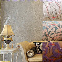 Luxury Vintage Damask Wallpaper Roll Glitter High-Grade Flocking For Wall paper Living room Bedroom TV Sofa Background R129