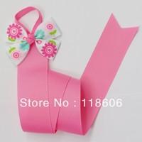 50pcs/lot  Pink Floral Bow Holder Hair Clip Organizer Free Shipping