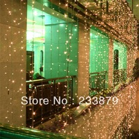New 10*5m 1600 LED flashlight Garland Curtain string Pandant lights lamp Christmas New Year Holiday party Wedding decorations