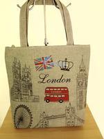 Winter national flag personalized print nappy bag large capacity shoulder bag handbag canvas bag
