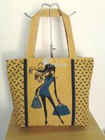 Personalized print bag shoulder bag large capacity nappy bag shopping bag