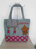 2014Sell like hot cakes casual canvas bag  women's  eco-friendly handbag  Free shipping