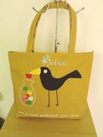 Large capacity nappy bag crow canvas bag eco-friendly bag casual shoulder bag