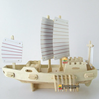 Wool assembling model diy model aircraft gift boat ancient sailing model