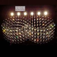 NEW 2014 modern crystal lamps aisle high power crystal pendant lights