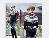 hot style 2013 Autumn/winter all-match dot snowflake turtleneck slim long-sleeve sweaters women WQ795
