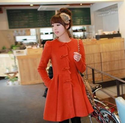 2014 New Women's Spring Autumn Fashion Slim Fur Collar Bow knot ...
