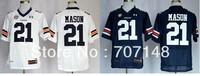 Mix Order Auburn Tigers Tre Mason #21 Navy Blue White College Football Jersey -Free Shipping