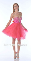 CustomizedFree shipping 2014 Hot SaleBeading Crystal Sexy Short A-Line Prom Dresses Party Dress Cocktail Dresses