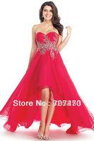 CustomizedDSK-88 2014 New Arrive Amazing Strapless Chiffon Ruffled Pleated Split Celebrity Gown Evening Dresses Prom Dress
