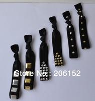 240pcs 6 colors 2014 Hot Sale Studded FOE Hair Tie High Quality  Elastic har ties  hair ribbon  wholesale