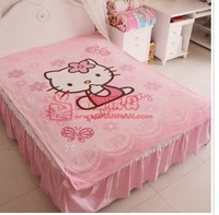 150*200cm hello kitty blanket baby/Kids/children coral fleece blanket thicken air condition/sofa cartoon