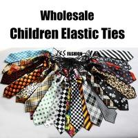 5pcs/Lot Children Elastic ties COOL boys girls tie fashion baby necktie