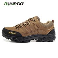 Male auupgo walking shoes hiking shoes waterproof outdoor shoes male