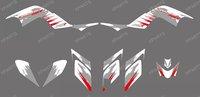 New DECALS STICKERS Graphics Kits for YAMAHA RAPTOR 700 ATV 2006-2012 (white gray 0326)