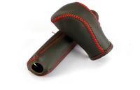 For IX35 Tucson Hyundai Genuine Leather Handbrake Grips + Gear Shift Collars Top Quality Handbrake Gear Shift Cover