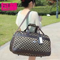 Hot super large capacity waterproof luggage & travel handbag one shoulder male Women plaid travel bags FREE SHIPPING