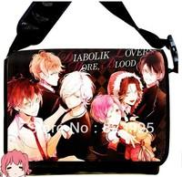 Free Shipping 2013 NEW Style DIABOLIK LOVERS Anime surrounding canvas shoulder bag Inclined shoulder bag chool bag