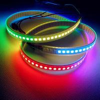 144 Pixels LEDs WS2812B 2812 WS 2812 LED Chip White PCB WS2811 IC Digital 5050 SMD RGB LED Strip DC5V