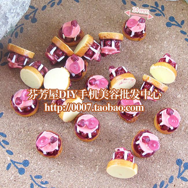 flat back resin chocolate cake cookies 15pcs 14mm mixed kawaii cabochons crafts DIY US $4.13/lot ( 5 lots or more)(China (Mainland))