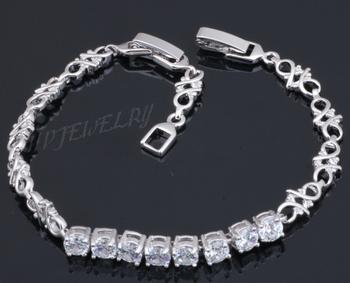 18K k Gold Plated wedding charm bracelets like watch White Zircon & Crystal fashion men jewelry TB095