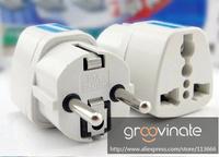 New Arrival 2 pcs Universal AU US UK to EU AC Power Plug Home Travel Converter Adapter Adaptor Free Shipping