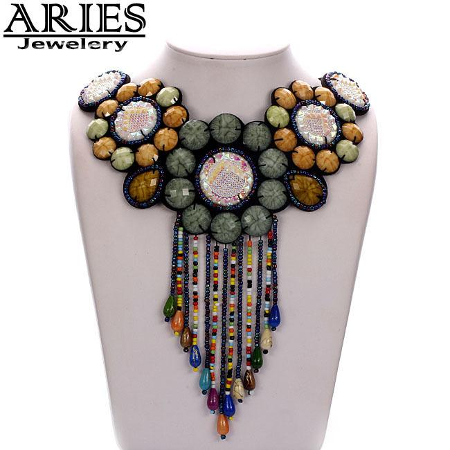 Free shipping New 2014 Bohemia Fashion vintage Ethnic Jewelry shape design Handmade Necklace pendant Long Necklace