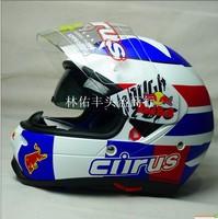 Genuine hjc Dual Lens Full Face Motorcycle Helmet CIRUS HS-12 Golden ran helmet, free shipping!