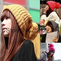 2013 new winter big lob wool knit cap wool hat warm hat yd0w16
