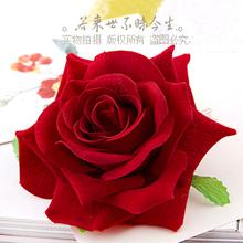 2014 New wedding hair accessories red rose velvet bridal hairpin tiara bride flower hairclip(China (Mainland))