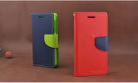 Korean MERCURY Goospery Double Color Leather Flip Case Cover For Sony M36h Xperia ZR with Holder & Credit Card Slot