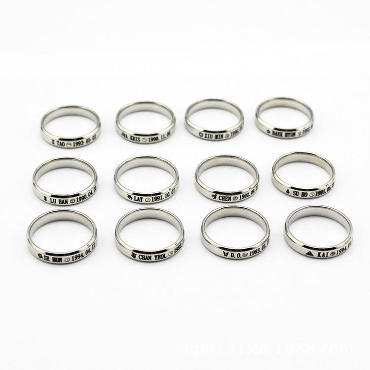 Wedding Rings Logo k Pop Music Group Exo Exo m Exo k Constellation Birthday Logo Finger Ring