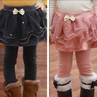 2014 autumn and winter girls clothing child velvet thickening long trousers boot cut jeans legging kz-3033  sxl