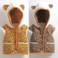 2014 autumn and winter boys girls clothing child thickening plus velvet vest wt-1538  sxl
