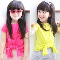 2014 summer brief bow girls clothing baby child short-sleeve T-shirt tx-1890  sxl