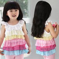 2014 summer girls clothing baby child chiffon vest tx-1939  sxl