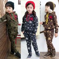 2014 spring boys clothing girls clothing child sweatshirt harem pants sports set tz-0963  sxl