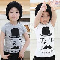 2014 summer gentleman hat boys clothing baby child short-sleeve T-shirt tx-1856  sxl