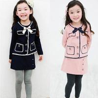 2014 spring girls clothing baby child outerwear skirt trousers legging set tz-1037  sxl