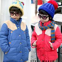 2014 winter berber fleece boys clothing girls clothing child cotton-padded jacket wadded jacket wt-1459  sxl