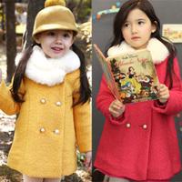 2013 winter fur collar girls clothing child thickening wadded jacket cotton-padded jacket cotton-padded jacket overcoat wt-2152