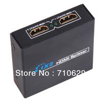 Free shipping 3D HDMI SPlitter 1X2 split one HDMI input to 2 HDMI output
