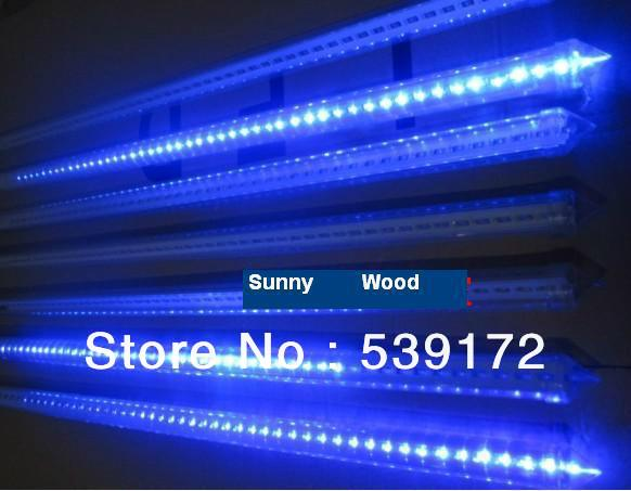 Big promotion Free Shipping LED Blue color meteor tube , christmas lights outdoor Snow light 80cm 50pcs/lot LFS-80-F5-B(China (Mainland))