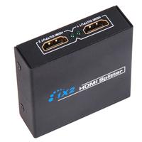 Free shipping 5pc/lot 3D HDMI SPlitter 1X2 split one HDMI input to 2 HDMI output