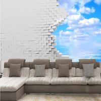 wall stickers art 3d three-dimensional wall wallpaper mural restaurant sofa tv background wallpaper seamless  home decor