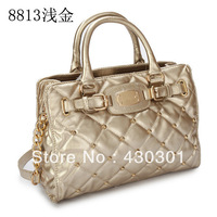 2013 women PU leather Michaels boston bag gold rivet vintage designer brand tote and high quality handbag, free shipping