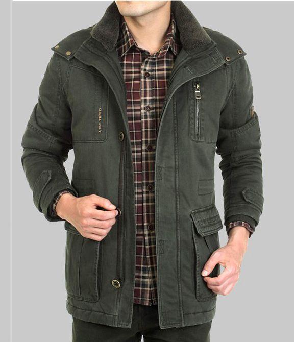 Big Size 4XL 5XL 6XL 100% Cotton The Khaki Army outwear & Coats & Jackets Men Winter Jacket With hood parkas XXXL XXXXL XXXXXL(China (Mainland))