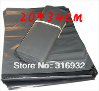 E3  free shipping 20pcs/lot 20*34CM,grey Express Bag Poly Mailer Mailing Bag Envelope Self Adhesive Seal Plastic Bag