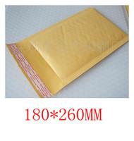 Free shipping 10 Pcs 180mm*260mm Kraft courier bubble bag envelop E6