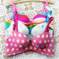 new arrive fashion bra ! women brassiere lady bra set one piece seamless lingerie set Cute girls candy lolita cup bra underwear